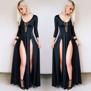 BlackMilk | Vamp Split Maxi Dress Limited Edition